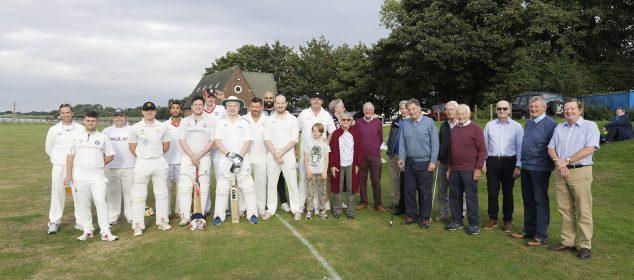 Bill Oldham Memorial Bench - Cricket Match